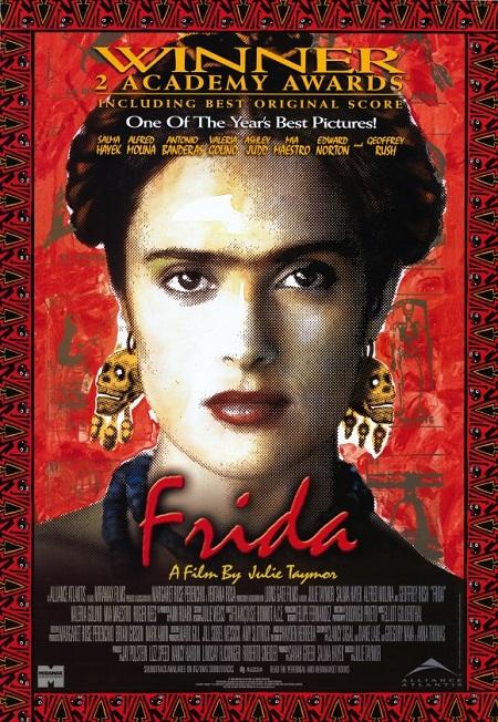 "Portada de la película ""Frida"" basada en la historia de la artista mexicana."