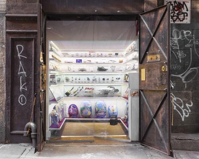 Fotografía del Mmuseumm, construido en el hueco del ascensor de un edificio en Manhattan.