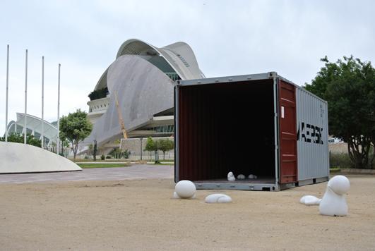 Fotografía del proyecto eclosión en Valencia en el antiguo cauce del Túria
