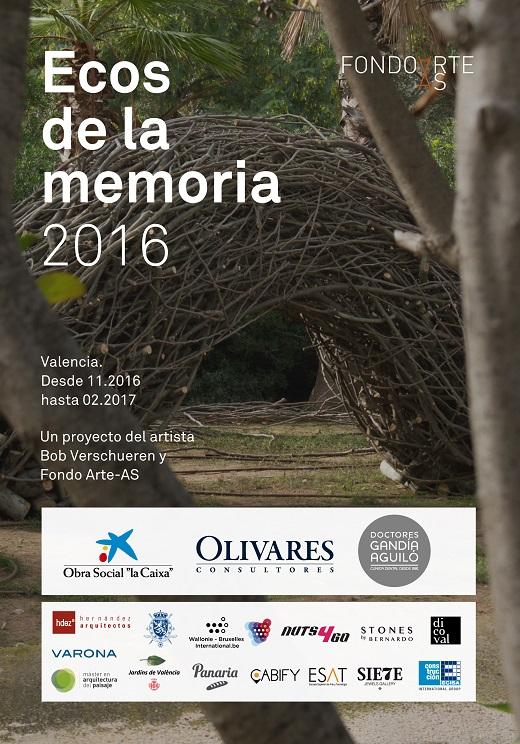 """Cartel informativo del proyecto artístico """"Ecos de la memoria 2016"""""""