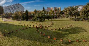 """Instalación """"Running"""" creadas para """"Ecos de la memoria 2016"""", en los jardines del Turia"""