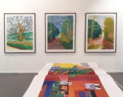 Dibujos creados con Ipad e impresos sobre papel (2010), del artista David Hockney