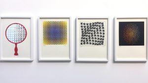 Serigrafías sin título creadas por Julio Le Parc en 1995. 29x21 cm