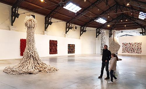 Interior de la galería Valérie Bach, de Bruselas