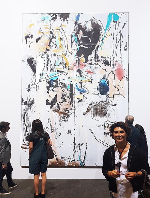 Una de las pinturas expuestas por el artista español Secundino Hernández