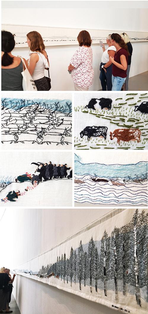 """Obra """"Historja"""" de Britta Marakatt-Labba, en Documenta 14"""