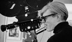 Warhol rodando una de sus películas