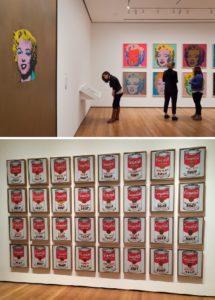 Exhibición de la obra de Warhol en el museo MOMA de Nueva York